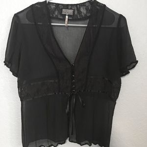 Free People sheer top.